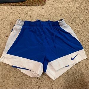 Nike shorts with spandex attached.